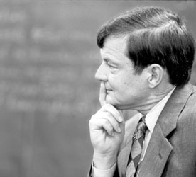Les Garner in the classroom, January 1997