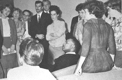 Dr. Martin Luther King Jr. during his appearance at Cornell College in October 1962.