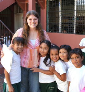 Brittany Aitchison '10 taught English and volunteered in Honduras one spring break. (Photo by Brittany Aitchison)