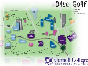 Cornell College Disc Golf Map