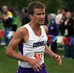 Chase Nowak competes in cross country