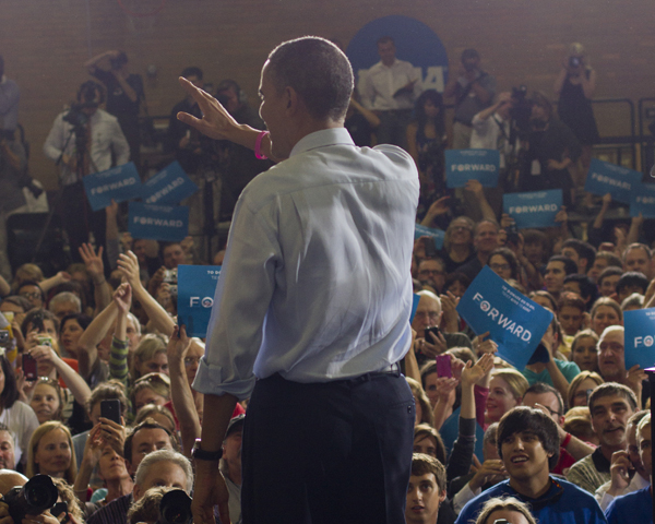 President Barack Obama visited Cornell College on Oct. 17, 2012