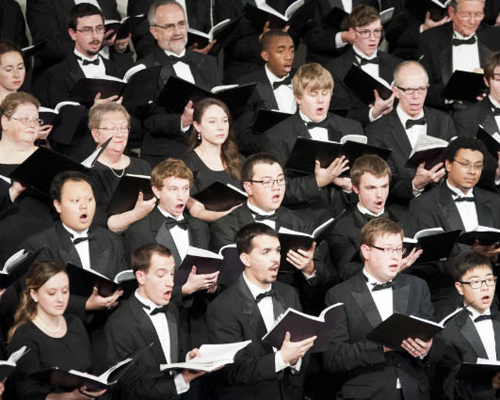 """The Cornell College Choir, with alumni soloists and community guest singers, performs Handel's """"Messiah"""""""