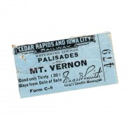 "Ticket to the Pal: For 14 years an interurban railway made it easier than ever for Cornell students to enjoy the beauty of what's now Palisades-Kepler State Park. By the late 1920s the advent of the car meant the railway wasn't needed, but recreation at the park still was. Starting with an illicit ""Flunk Day"" in 1920, Cornell students headed to the park for a day of spring recreation for nearly 50 years in a tradition known more genteelly as ""Pal Day."""