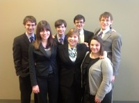 Cornell College's mock trial team.