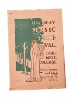 May Music Festival Program: For 100 years, the spring air in Mount Vernon was filled with the sound of music. In 1899 the college presented its first May Music Festival, the first such festival west of Chicago. Its rosters featured the Chicago Symphony Orchestra (which performed 63 times including in this 1901 program) and many of the greatest classical and jazz musicians the world had to offer.