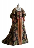 "Costume from Romeo and Juliet: Like several items on this list, theater was once forbidden, and students were banned from performing on campus or attending shows off campus. But in 1899 students put on a translation of ""Sophocles"" with the permission of the faculty. Since then the theatre program has gathered national accolades, including a listing in the Princeton Review as one of the top 15 programs in the nation. Throughout the years Shakespeare has been a theater mainstay. (Gown designed by Jenny Nutting Kelchen.)"