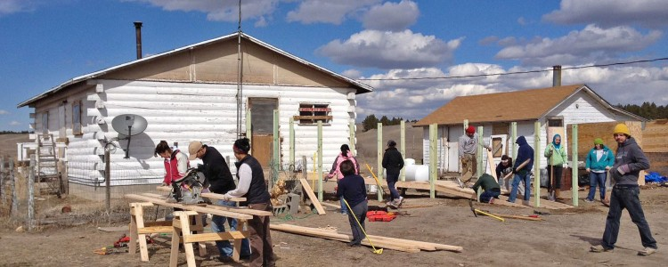 Cornell students assisted with construction and other projects on the Pine Ridge Reservation in South Dakota.