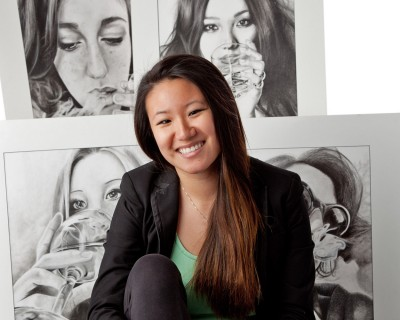 After testing the limits of graphite and charcoal drawing during her senior exhibition, Josephine Liu '13 is ready to explore animation and other art forms as she embarks on a year of studies at the San Francisco Art Institute.