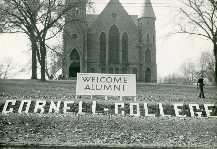 The Hilltop has beckoned alumni for 100 years of Homecomings. This scene is from 1934.