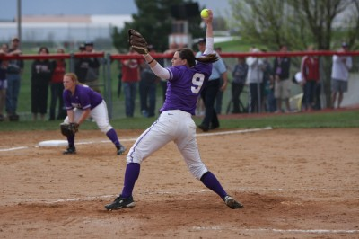 Jackie Sernek was a key figure on an outstanding softball team. She was named Co-Pitcher of the year in the Midwest Conference South Division, among other awards.