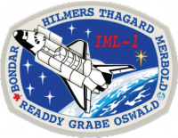 A patch from one of Hillmer's missions on the Space Shuttle.