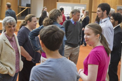 Parallel First-year Seminars in sociology and geology explored the topic of consumption, presenting their work on the Orange Carpet to students, faculty and staff.