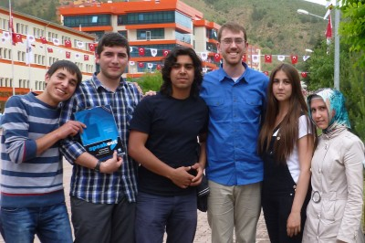 Will Dinneen '12 during Fulbright year in Turkey