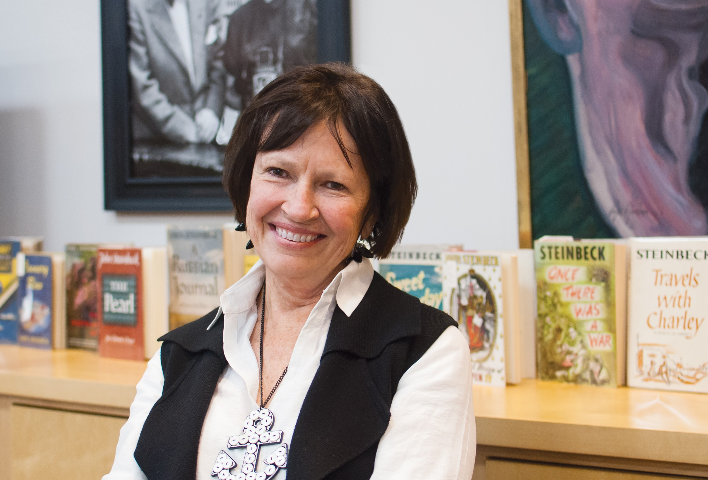 Susan Shillinglaw '73, an authority on the work of John Steinbeck and a professor at San Jose State University in California.