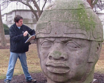 Olmec colossal head at Field Museum