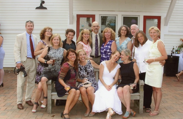 Dorothy Deemer '83 was married to Louie Sharp on July 21, 2013. Cornellians present at the wedding were: Front row, left to right: Robin Johnson Bradford '85, Arden Kwan '83, Lisa Smith '82, Dorothy Deemer '83, Melissa Wood '82 Back row, left to right: Terry Murphy '85, Denise Drendel Foster '83, Rhonda Lieberman '83, Karen Yanko Morrissey '83, Doug Foster '85, Jan Ray Mitchell '83, Chris Annicella '84, Craig Carmen '82, Patrice Salander Tran Lam '83, Jan Lansing Murphy '83.