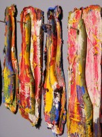Paint brushes made entirely from paint by John Wagoner '05