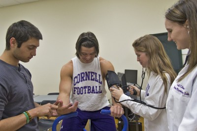 Students in Physiology of Exercise examined how the human body works and changes from a resting to an exercising state, gaining hands-on experience through a series of labs to complement their classroom learning.