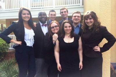 The Cornell College Mock Trial team in Orlando, Fla.