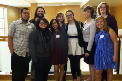 Eight students, along with sociology professor Erin Davis, attended the Iowa Sociological Association conference at Luther College in April.