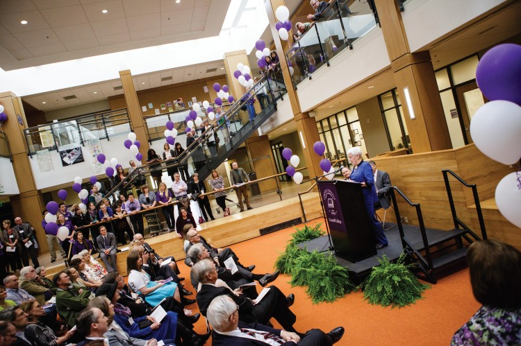 Thomas Commons: Fabulously finished The Thomas Commons project, a total renovation that included 9,000 additional square feet, is finished. At the dedication on May 2, honorary alumna Norma Thomas Small spoke about her father, Cecil Thomas, and his love for Cornell College. The building is named for Cecil and his wife, June.