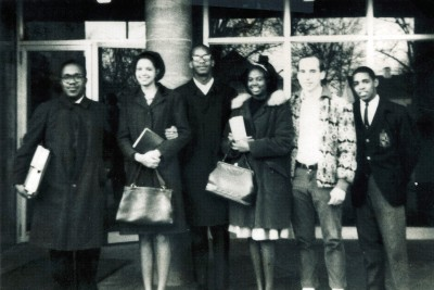 Tom Herbert '66 (fifth from left) had a transformative experience as an exchange student the spring of his sophomore year at Fisk University in Nashville, Tenn.