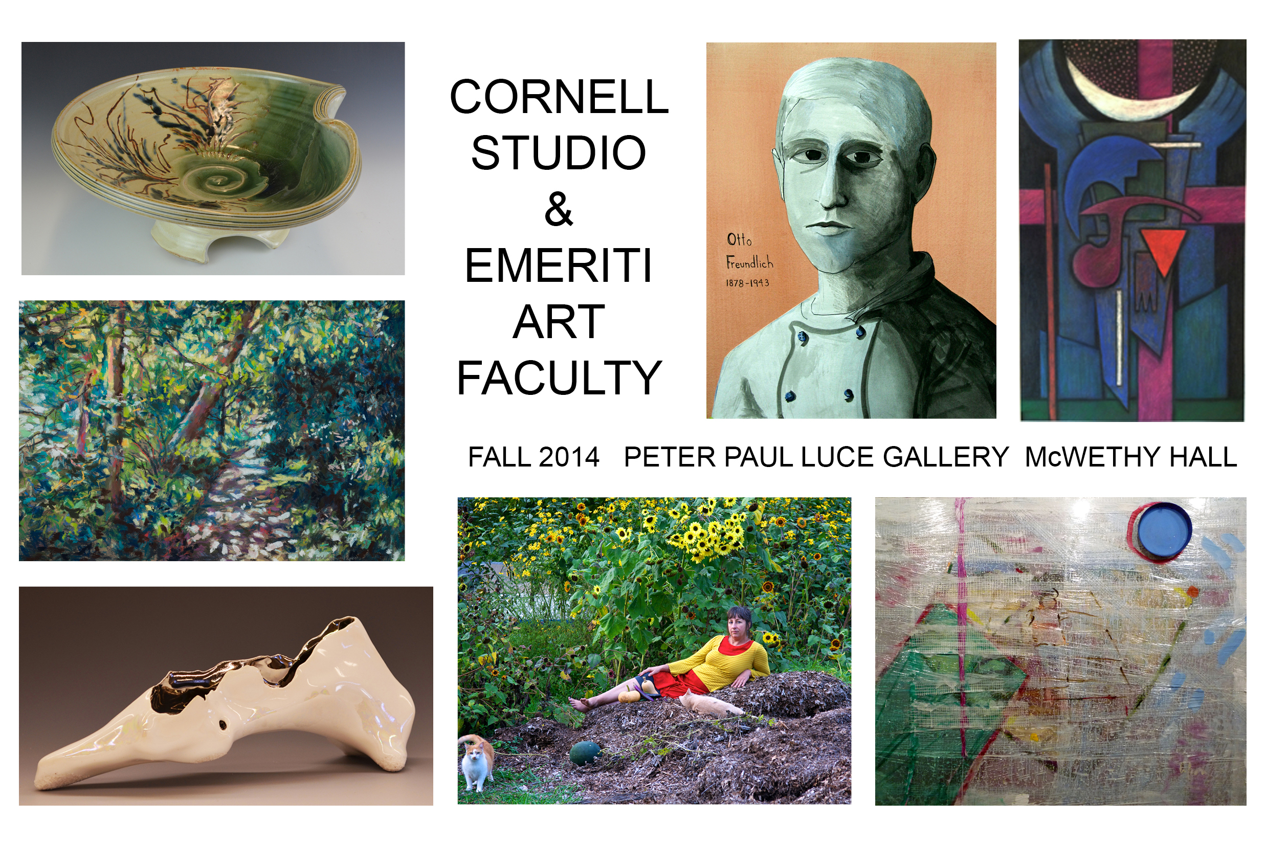 A show featuring current and emeriti art faculty opens Sept. 7.