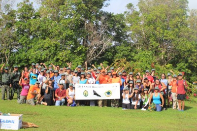 More than 50 people helped Tammy Mildenstein conduct a survey of bats on Guam.