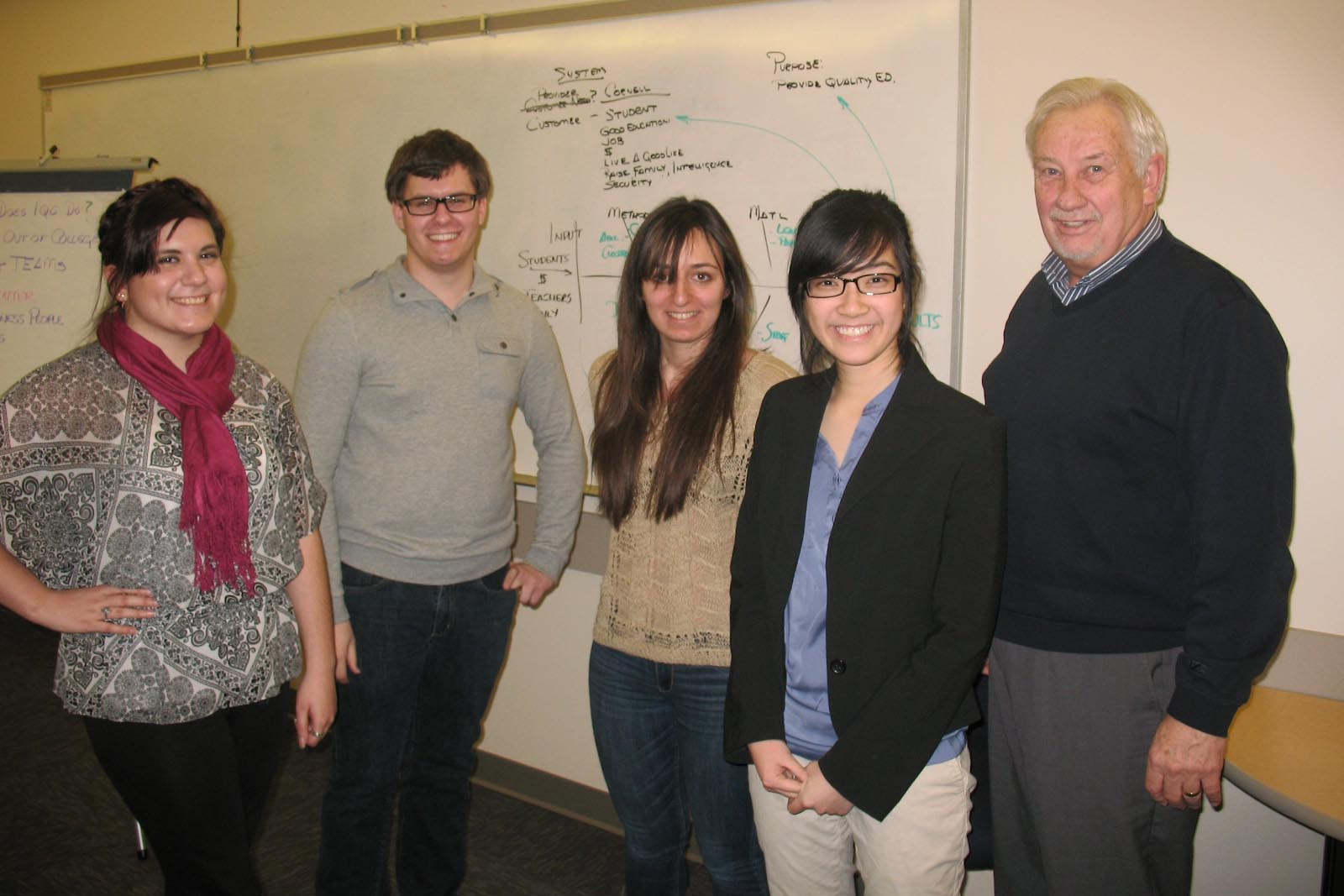 Gary Nesteby (right) with Cornell College students.