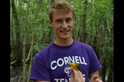 Senior Nolan Schillerstrom spent ten weeks in South Carolina studying the nesting and territorial behavior of prothonotary warblers during a Cornell Fellowship with the Audobon Center at the Francis Beidler Forest.