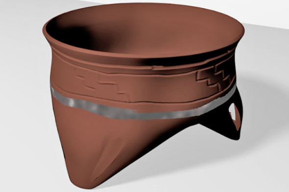 3D rendering of an object from Tomb 118