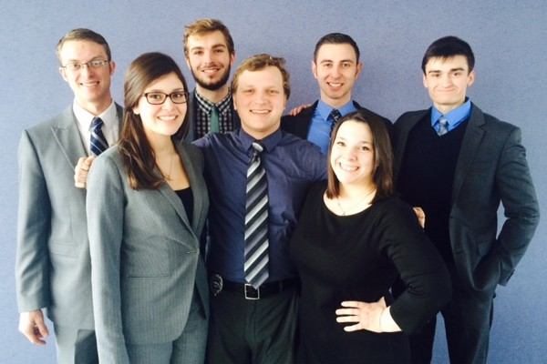 Mock trial squad at the 2015 regional tournament.