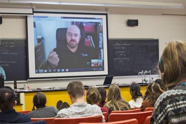 Jason Kolowski '98 joins class remotely