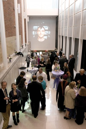A video art installation by Anna Henson '06 and art history instructo Sandra Dyas played ruing the reception in Kimmel Theatre lobbies.