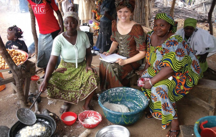 After graduation, Brittany Atchison '10 spent nine months in Nigeria launching a micro-finance initiative called EmpowHER to give women entrepreneurs in the developing country a chance to reach economic independence (Photo by Brittany Atchison '10)
