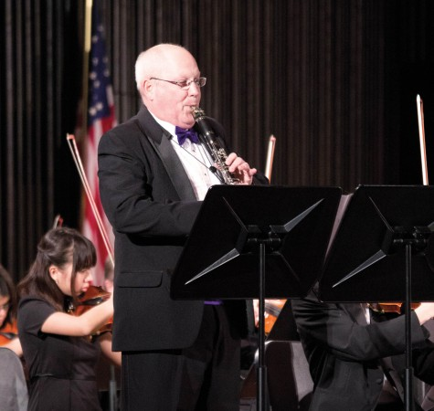 Dean of the College Joe Kieker was the featured clarinet soloist during the Cornell Orchestra Concert. The Cornell choirs also performed during the weekend.