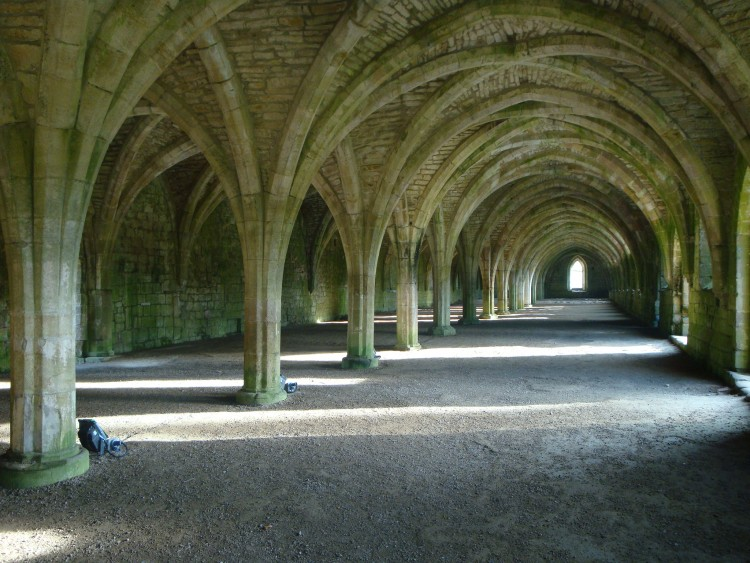 "Monica Brown '11 captured the Cellarium at the Fountains Abbey outside of York, England. "" I was very artistically attracted to the space, and it remains one of the most memorable moments of the trip for me,"" she wrote."
