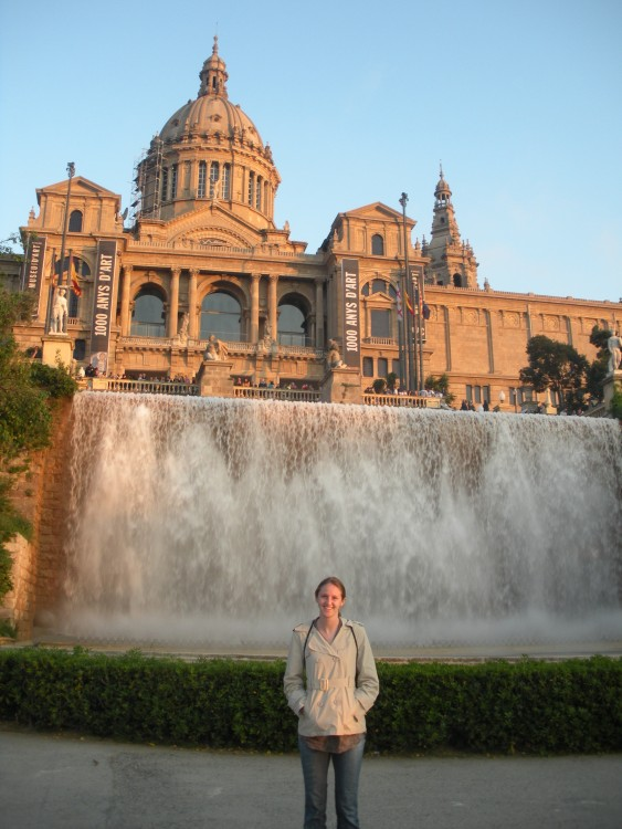"During her semester in Granada, Spain, Alissa Benjamin '11 visited Barcelona. ""This was taken on a spring evening as the sun began to set creating a beautiful glow on the National Art Museum of Catalonia and the fountains in front of it,"" she wrote."