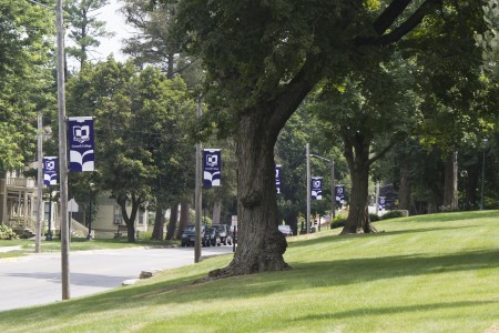 New banners went up along First Street this summer.