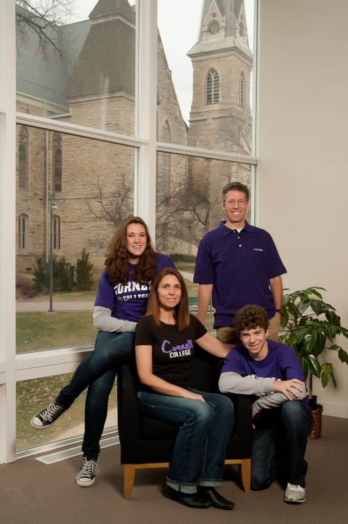The now first family: Jonathan Brand and Rachelle LaBarga and their children, Madeleine, 15, and Ethan, 13