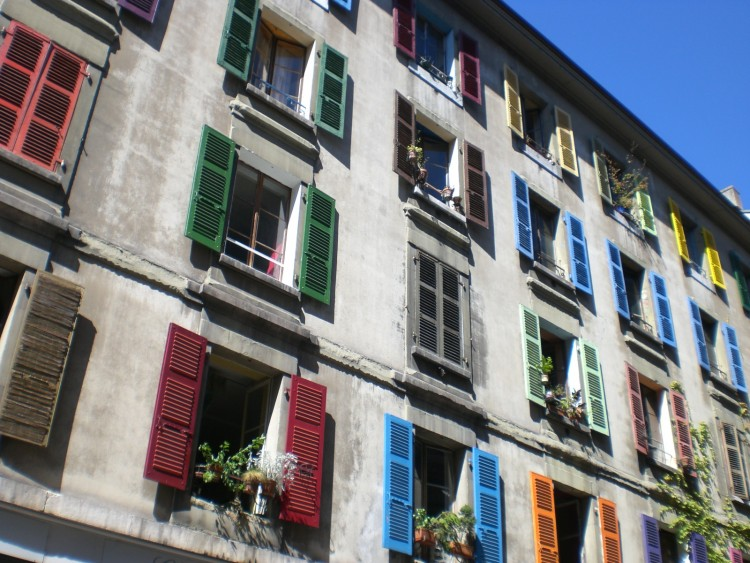 Andrew Patzke '11 discovered this colorful apartment building in Geneva, Switzerland, while taking Global Health and Development through the College Semester Abroad program of he School for International Training.
