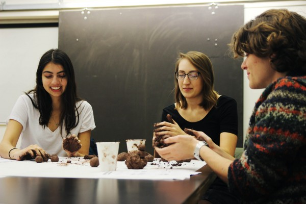 Cornell College students make seed bombs with artist Mike Bianco