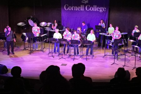 The Cornell College Steel Drum Ensembles held a concert during Homecoming 2015 that previewed some of the songs they'll play while performing at Mardi Gras in New Orleans.