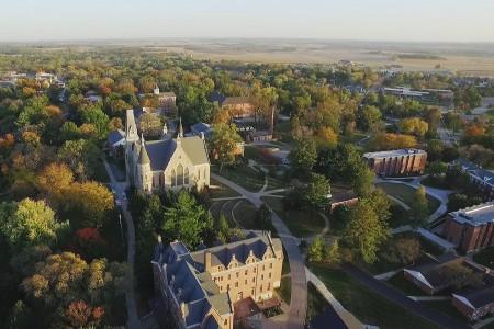 Cornell College Campus Aerial