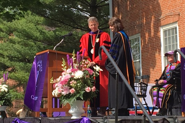 Professor of Psychology Carol Zerbe Enns received an unexpected honor at Cornell College's 2016 Commencement ceremony when she was announced as the recipient of the Exemplary Teacher Award.