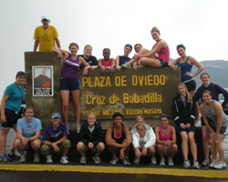 The volleyball team performed service and served volleyballs in Nicaragua last summer. (Photo by Jeff Meeker)