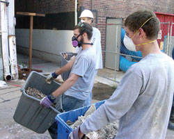 Cornell students have logged thousands of hours helping clean and repair areas damaged by the 2008 floods.