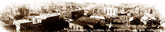 Panoramic view of Lisbon, looking toward Mount Vernon. (Photo courtesy of the Lisbon History Center)