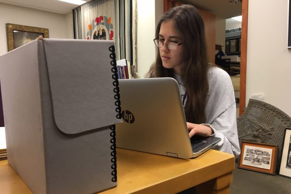 Sydney Pratt '19 is focusing her research for the Cornell Summer Research Institute on one woman–Winifred Van Etten.